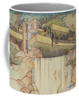 Fallingwater Pen And Ink Coffee Mug