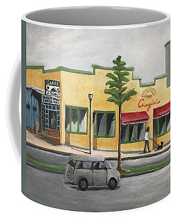 Coffee Mug featuring the painting Falls Church by Victoria Lakes