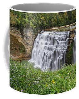 Autumn Flower Of Letchworth Middle Falls Coffee Mug