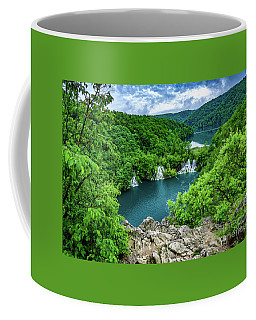 Falls From Above - Plitvice Lakes National Park, Croatia Coffee Mug