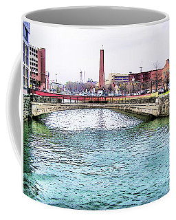 Coffee Mug featuring the photograph Fallswalk And Shot Tower by Brian Wallace