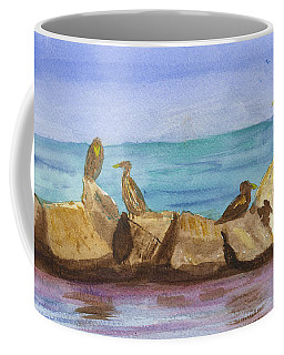 Coffee Mug featuring the painting Falmouth Mass by Donna Walsh