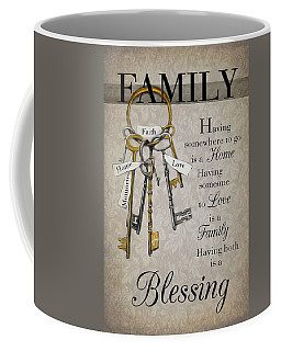 Coffee Mug featuring the photograph Family Is A Blessing by Robin-Lee Vieira