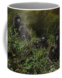 Family Of Gorillas Coffee Mug