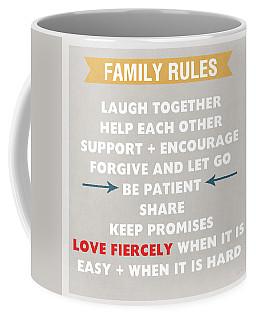 Family Rules Coffee Mug