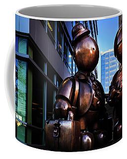 Immigrant Family Sculpture Coffee Mug