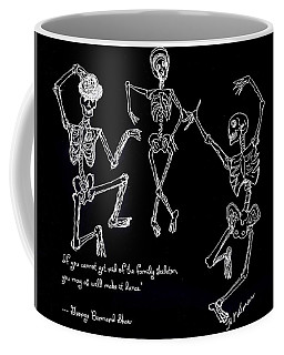 Coffee Mug featuring the drawing Family Skeleton by Denise Fulmer