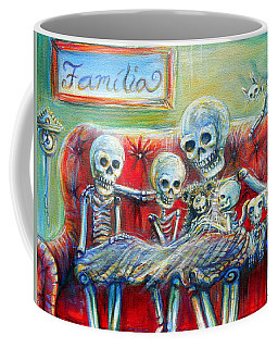 Coffee Mug featuring the painting Family Time by Heather Calderon