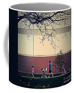 Family Walk To The Park Coffee Mug