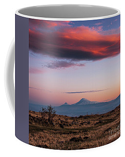 Famous Ararat Mountain During Beautiful Sunset As Seen From Armenia Coffee Mug