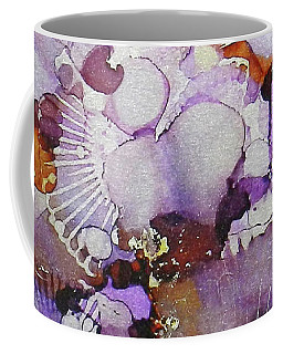 Coffee Mug featuring the painting Fanburst Ink #3 by Sarajane Helm