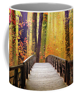 Coffee Mug featuring the photograph Fanciful Footbridge by Jessica Jenney