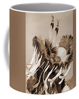 Coffee Mug featuring the photograph Fancy Dancer In Sepia by Heidi Hermes