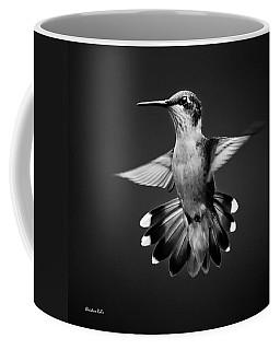 Fantail Hummingbird Square Bw Coffee Mug