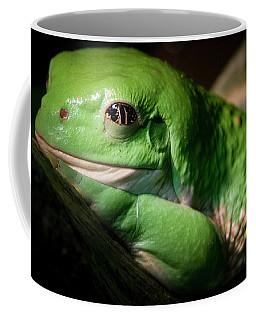 Coffee Mug featuring the photograph Fantastic Green Frog by Jean Noren
