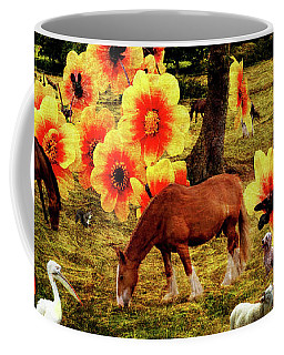 Fantasy Farm Coffee Mug by Judi Saunders