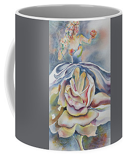Coffee Mug featuring the painting Fantasy Rose by Mary Haley-Rocks