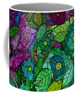 Fantasy Zen Flowers In Alcohol Ink Coffee Mug