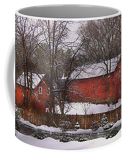 Farm - Barn - Winter In The Country  Coffee Mug