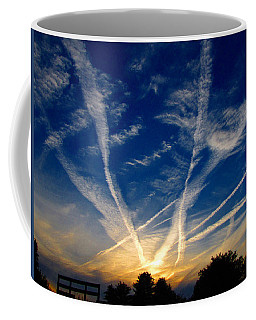 Coffee Mug featuring the photograph Farm Evening Skies by Rick Morgan