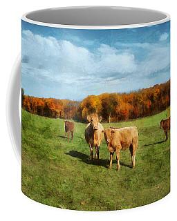 Farm Field And Brown Cows Coffee Mug