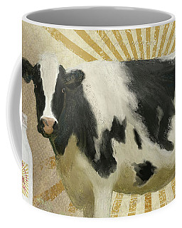 Coffee Mug featuring the painting Farm Fresh Milk Vintage Style Typography Country Chic by Audrey Jeanne Roberts
