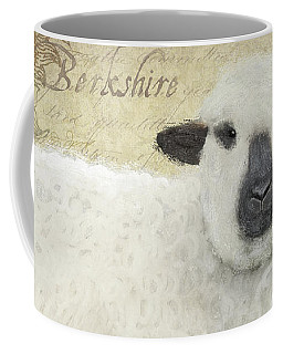 Coffee Mug featuring the painting Farm Fresh Sheep Lamb Simplicity Square by Audrey Jeanne Roberts