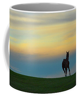 Farm Horse At Sunset Coffee Mug