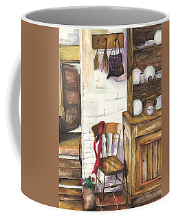 Coffee Mug featuring the painting Farm House by Darren Cannell