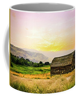 Twilight At The Okanagan Farm House Canada Coffee Mug