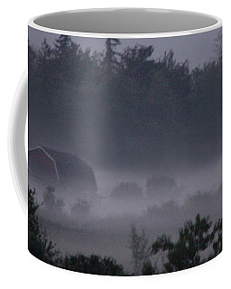 Farm In Fog Coffee Mug