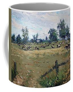 Farm In Terra Cotta On Coffee Mug