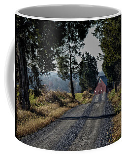 Coffee Mug featuring the photograph Farm Lane by Robert Geary