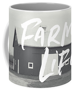 Farm Life Barn- Art By Linda Woods Coffee Mug
