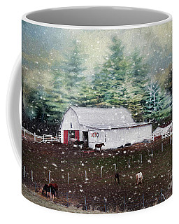 Coffee Mug featuring the photograph Farm Life by Darren Fisher