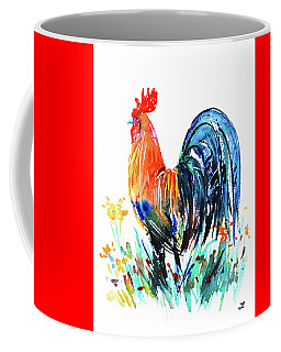 Farm Rooster Coffee Mug by Zaira Dzhaubaeva