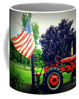 Farmall And Flag Coffee Mug