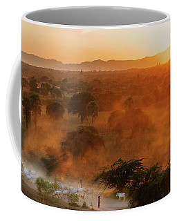 Coffee Mug featuring the photograph Farmer Returning To Village In The Evening by Pradeep Raja Prints