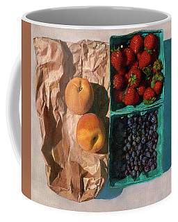 Coffee Mug featuring the painting Farmers Market by John Dyess