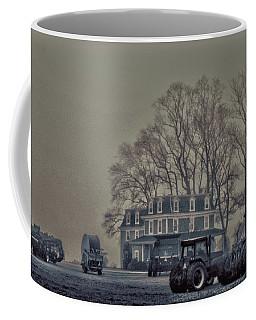 Farmhouse In Morning Fog Coffee Mug