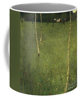 Farmhouse With Birch Trees Coffee Mug