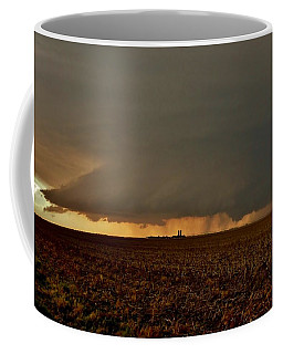 Coffee Mug featuring the photograph Farmland Supercell by Ed Sweeney