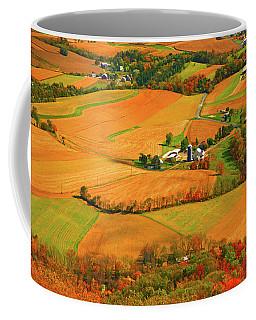 Farms Can Be Seen From Pa At Coffee Mug by Raymond Salani III