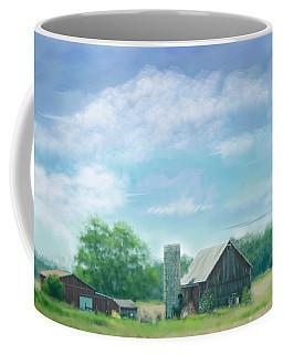 Farmstead Under Blue Skies Coffee Mug