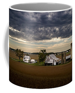 Farmstead Under Clouds Coffee Mug