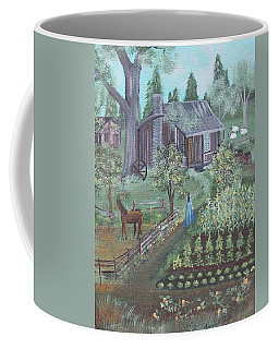 Coffee Mug featuring the painting Farmstead by Virginia Coyle
