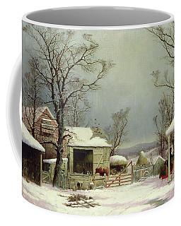Farmyard In Winter, 1862 Coffee Mug