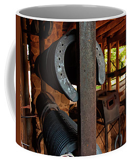 Coffee Mug featuring the photograph Farriers Station by Chris Flees