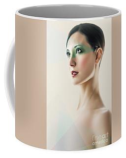 Coffee Mug featuring the photograph Fashion Beauty Portrait by Dimitar Hristov