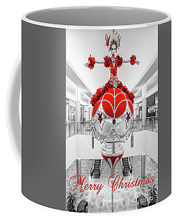 Fashion Show Red And Gold Ornament Full Bw And Red Merry Christmas  Coffee Mug by Aloha Art